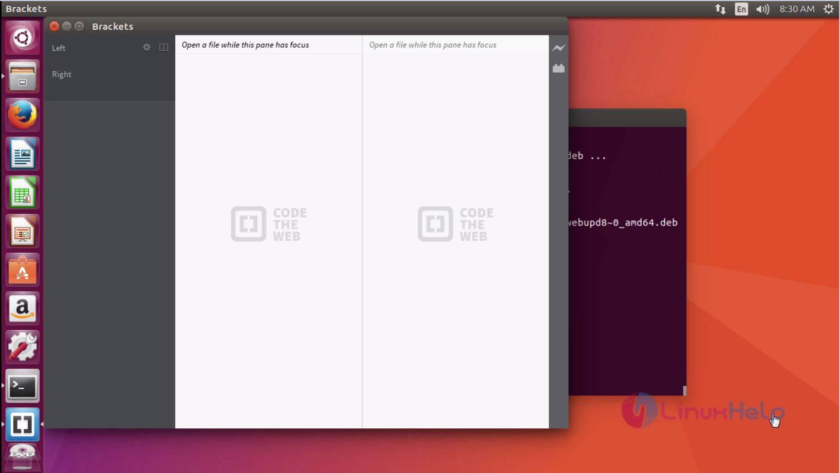 How to install Brackets Code Editor on Ubuntu 17 04 | LinuxHelp