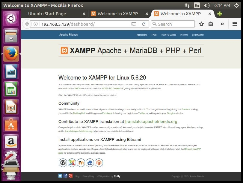 Installation-XAMPP-Stack-PHP-Apache-web-server-MySQL-database-Perl-famework-installs-Apache-environment-Ubuntu-welcome