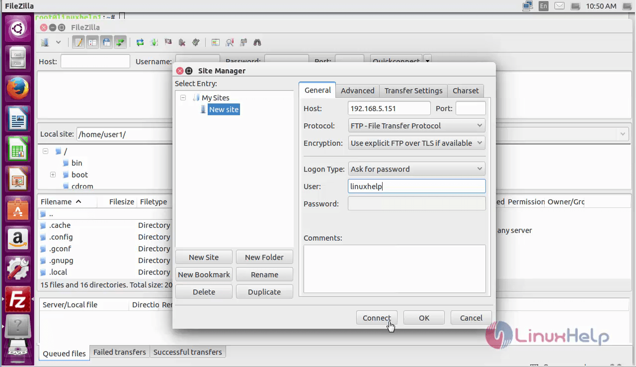 How to set up Vsftpd for a User's Directory in Ubuntu