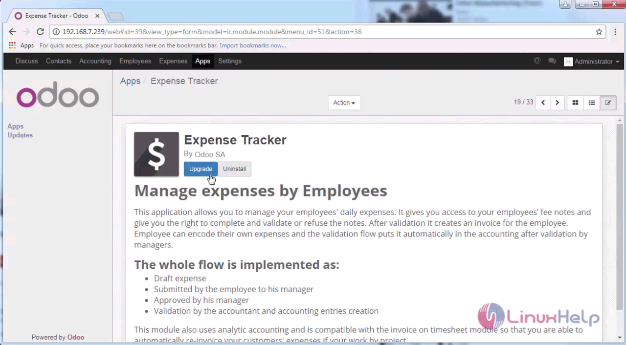 How to use Expense Tracker Module on odoo | LinuxHelp Tutorials