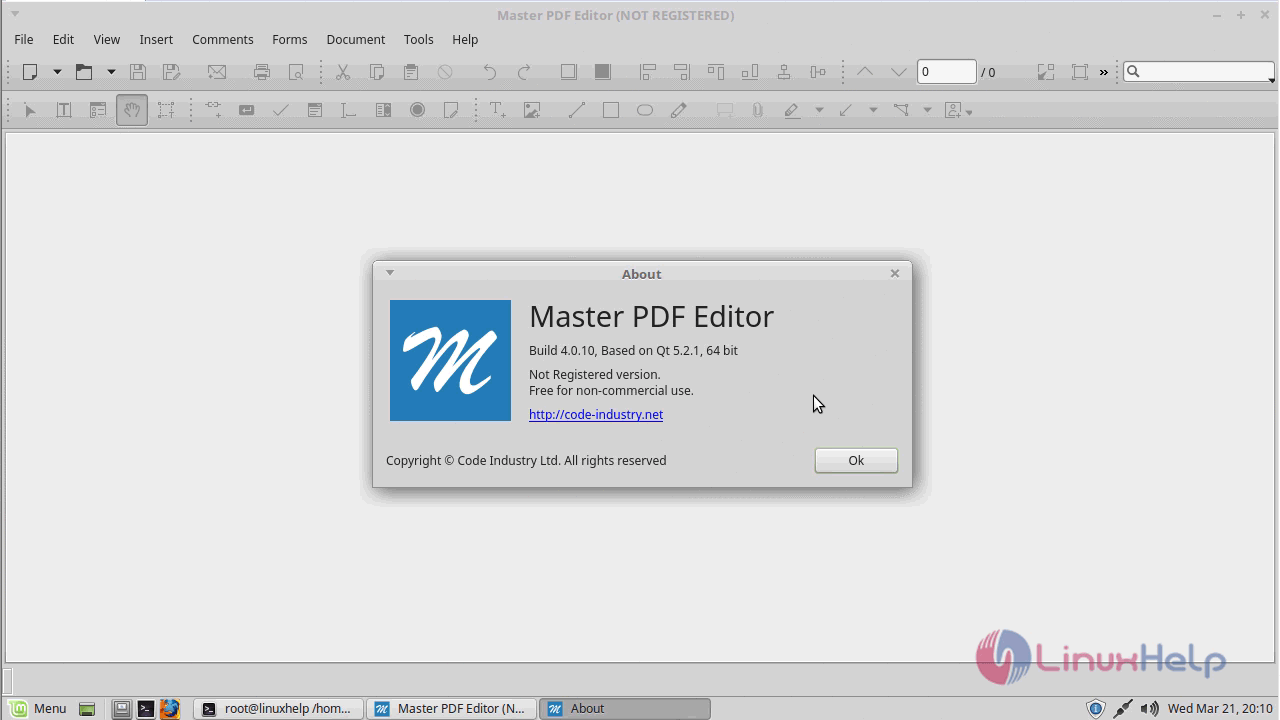 How to install Master PDF Editor 4 0 10 on Linux Mint 18 3