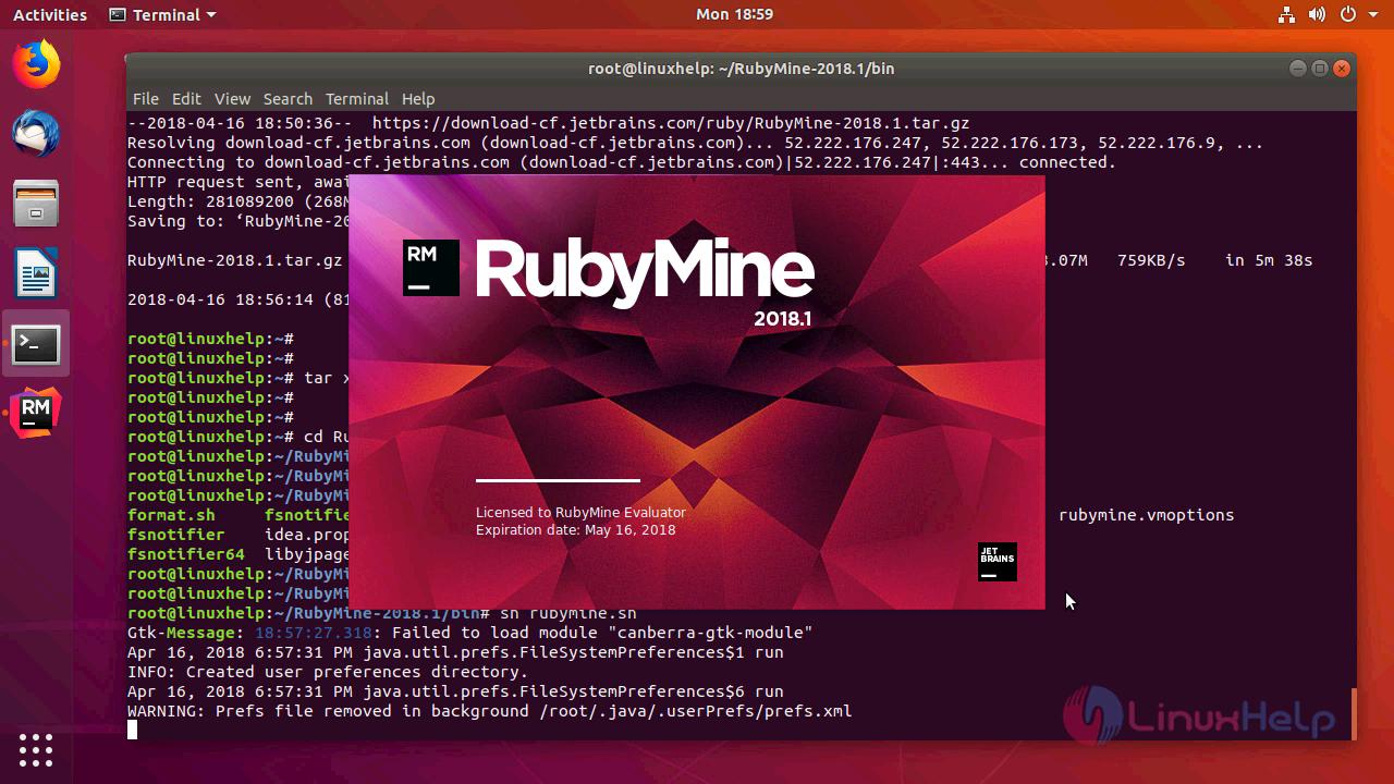How to install rubymine 2018 1 on ubuntu 18 04 | LinuxHelp Tutorials