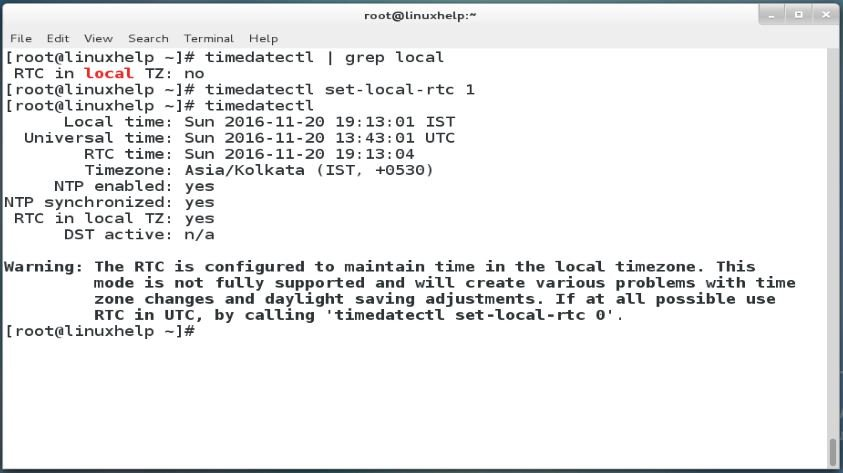 How To Configure Time using timedatectl command   LinuxHelp