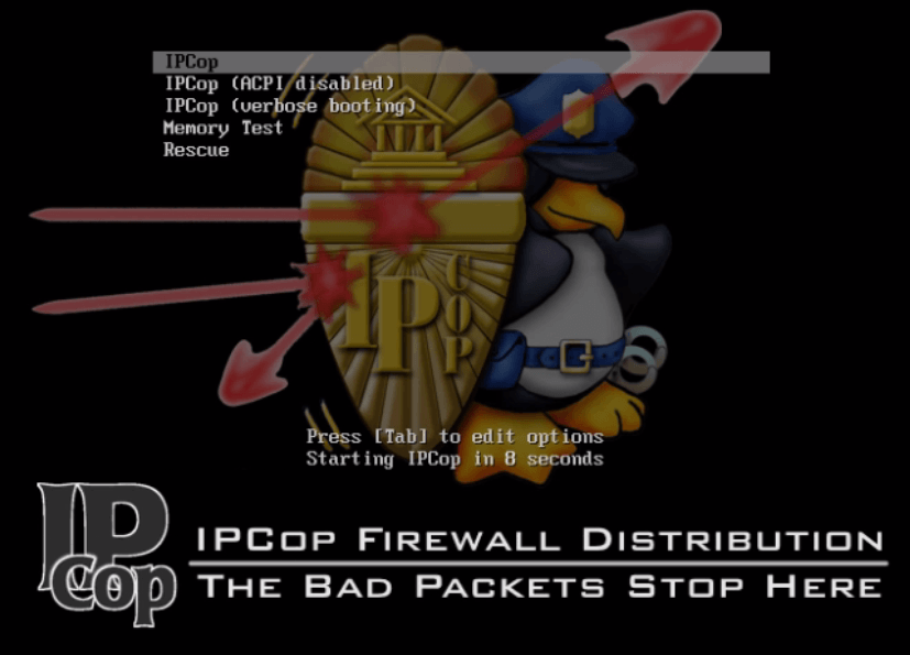 Installation-IPCop-manages-firewall-appliance-Linux-net-filter-framework-start