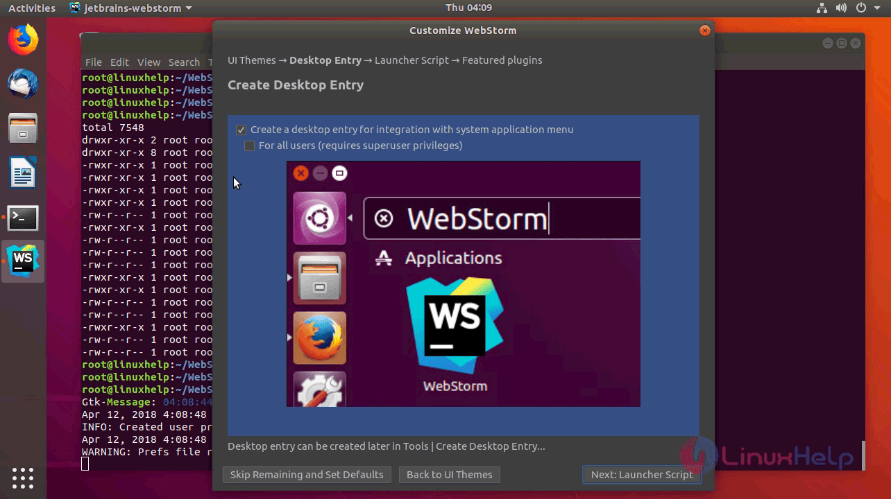 How to install webstorm 2018 1 on ubuntu 18 04 | LinuxHelp