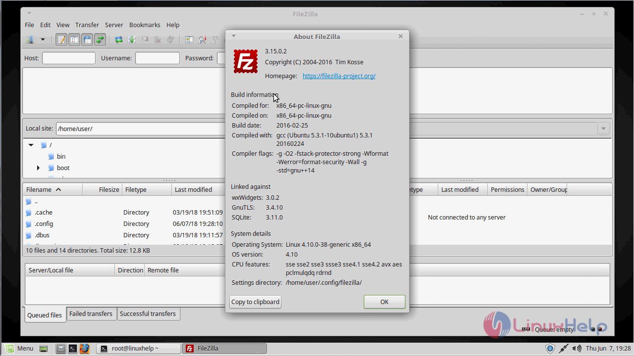 How to install FileZilla on linuxmint 18 03 | LinuxHelp